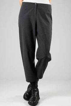 low crotch and low waist trousers in heavy cotton - A PUNTO B