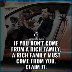 There is no way why you should die poor even if you weren't born from a rich family! Inspirational Quotes About Success, Success Quotes, Positive Quotes, Motivational Quotes, Mindset Quotes, Attitude Quotes, Life Quotes, Corporate Quotes, Business Quotes