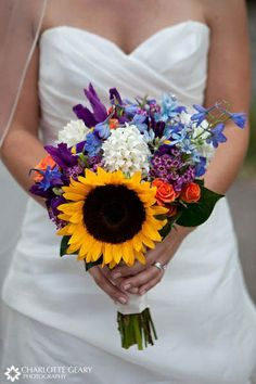 not exactly like this, but I would like a sunflower or two in the boquet!