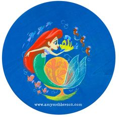 Ariel piece for NYCC's charity auction! Gouache on wood.More info about NYCC's charity auction for St Jude's Hospital can be found here!James Silvani will be donating a Darkwing Duck 'Dangerous' silkscreen (the sold-out Purple variant) signed by the voice of DWD, Jim Cummings!