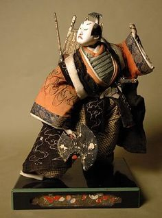 Japanese Isho Ningyo depicting an unknown Warrior. Edo Period, late 18th-Early 19th Century