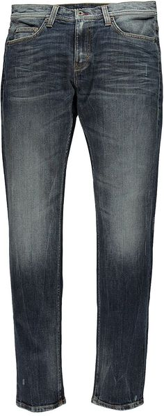 Schmal geschnittene Jeans, mittlere Leibhöhe und im Beinverlauf eingestellt. Sie hat aufgesetzte Gesäßtaschen und einen Reißverschluss. Die Jeans hat einen hohen Tragekomfort und eine super authentische Waschung mit Used-Effetken. 98 % Baumwolle, 2 % Elasthan....