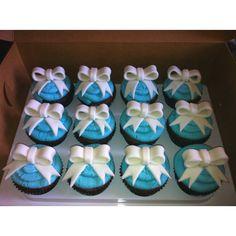 Tiffany cupcakes Tiffany Cupcakes, Girl Birthday Cupcakes, Fairy Cakes, Decorations, Drink, Food, Essen, Decoration, Drinking