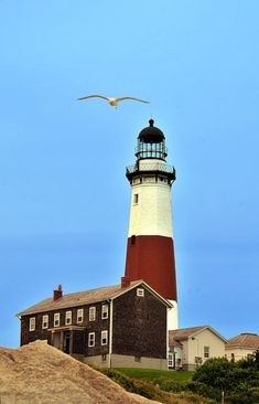 Montauk Lighthouse, Montauk Point, Long Island, New York Montauk Lighthouse, Montauk Point, Puerto Rico, Lighthouse Pictures, Long Island Ny, Beacon Of Light, Water Tower, East Coast, Beautiful World