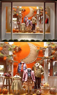 Ralph Lauren Fall Window Display