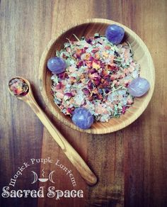 Sacred Space ritual salt - spiritual craft - meditation - witchcraft #witchcraft #greenwitch #sacredspace #thecraft #greenwitchcraft #meditation #yoga #ritual #witchsalt #potions #magick #smudge #crystalwater