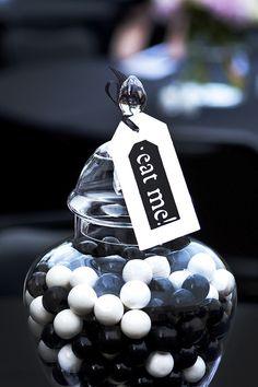 Elegant black and white edibles photographed by top Arizona wedding photographer Harrison Hurwitz
