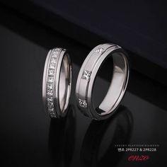 엔조 2PR227 & 2PR228 커플링 #반지 #커플링 #백금커플링 #백금반지 #플래티늄쥬얼리 #엔조 #엔조반지 #엔조커플링