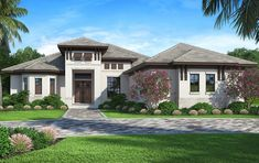 Exceptional House Plan 207 00062   Florida Plan: 2,562 Square Feet, 4 Bedrooms, 3  Bathrooms