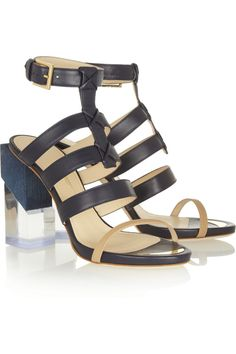 Maiyet | Perspex-heeled leather sandals | NET-A-PORTER.COM