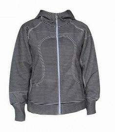Lululemon Yoga Scuba Hoodie Classic Stripe Printed Black White : Lululemon Outlet Online, Lululemon outlet store online,100% quality guarantee,yoga cloting on sale,Lululemon Outlet sale with 70% discount!$59.69