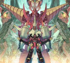 arc gurren-lagann, chouginga gurren-lagann, gurren-lagann, and tengen toppa gurren-lagann (mecha) (tengen toppa gurren lagann) drawn by yoshinari you - Danbooru