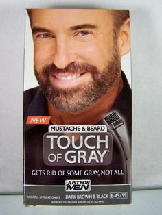 #JustForMen Touch of #Gray for #Men #mustache & #beard dark #brown & #black #hair #color multiple application #kit B-45/55 with comb brush applicator, brand new & unused in original manufacturer's cardboard box protective retail packaging http://www.ebay.com/itm/JUST-MEN-TOUCH-GRAY-MUSTACHE-BEARD-DARK-BROWN-BLACK-HAIR-COLOR-B-45-55-/111283799393?pt=US_Hair_Care&hash=item19e9080561
