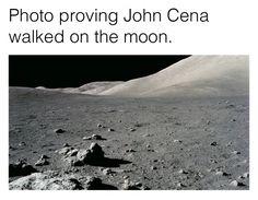 Photo proving John Cena walked on the moon