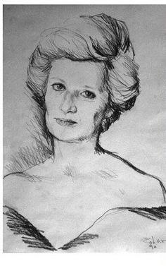 Retrato de Diana por el artista Israel Zohar _