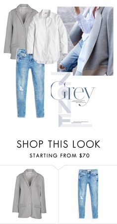 Grey Blazer by bluehydrangea on Polyvore featuring J.Crew, 6397, MANGO, women's clothing, women's fashion, women, female, woman, misses and juniors