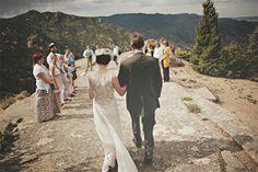 Mountaintop wedding in Manitou Springs | Photo by Sean Flanigan #mountaintop #wedding #Colorado