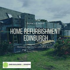 Refurbishing process is important to maintain your home. If you are interested in home refurbishment in Edinburgh then contact DMR builders that offer high-quality services to our customer. For booking call us on 07872 613 924 or visit us.