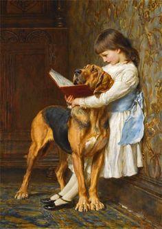 'Naughty Boy' by English Painter Briton Riviere (1840 - 1920)