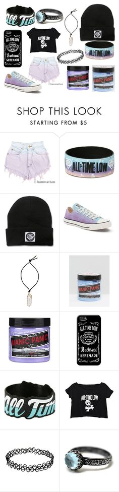 """All Time Low"" by xofrnk-ieroxo ❤ liked on Polyvore featuring Levi's, Hot Topic, Converse, Lanvin and Manic Panic NYC"