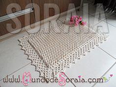 TAPETE PONTO 3D | Mundo de Soraia