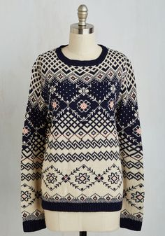 Host of Toasty Sweater, @ModCloth --- Every fashion board needs a Xmas sweater or two! The design on this one is gorgeous!