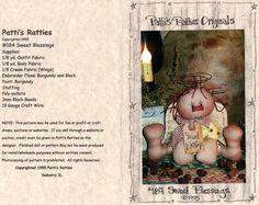 Patti's Ratties Sweet Blessings Pattern Free Primitive Angel Pattern