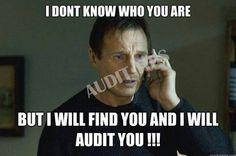 Auditors joke lol  Lmao!! Definitely texting him this