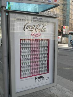 Coca Cola Light by Karl Largefeld, Showcase, JCDecaux Innovate