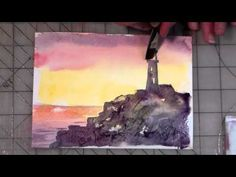 ▶ Beginner Watercolor Lighthouse Tutorial  The Frugal Crafter