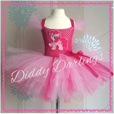 My Little Pony Tutu Dress Pinkie Pie Dress Party Fancy Dress Xmas Christmas Play #DiddyDarlings #CasualFormalParty