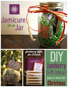 Quick and easy gift ideas! Get the items to fill your jars at: BrittanyZ.jamberry.com