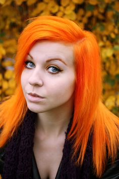 Bright orange #bright #hair would love to go this colour