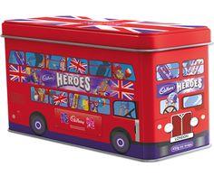 Cadburys Heroes London Bus tin