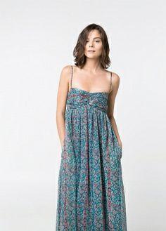 Vestido cinto desmontável - Vestidos - Mulher - MANGO