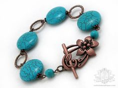 Resolution Turquoise Bracelet   turquoise by OohlalaBeadtique, $19.00 #gift #bracelet #turquoise #jewelry #fashion