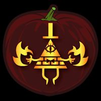 Free Bill Cipher Jack O Lantern Stencils Inspired By
