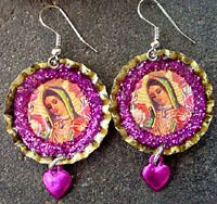 Guadalupe earrings are special for the Day of the Dead!
