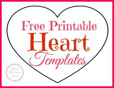 I LOVE everything hearts! Here are three different sizes of heart shaped printables. Tiny heart shapes, small outlines, medium shapes & many hearts on one page. Perfect for Valentine's day cards, decorations, and projects that require heart shapes! Printable Heart Template, Heart Shapes Template, Valentine Template, Printable Shapes, Star Template, Free Printables, Owl Templates, Crown Template, Butterfly Template