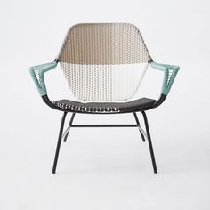 Colorblock Woven Lounge Chair
