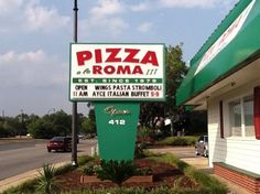 *****Stars Pizza Romana Originale Myrtle Beach South Carolina 701 S Kings Hwy, Myrtle Beach, SC 29577 Incredible NY style thin crust pizzas boneless wings (garlic Parmesan-BEST or teriyaki). Coupon was available. Pizza Roma, Star Pizza, Italian Buffet, Boneless Wings, Open Wings, Myrtle Beach South Carolina, Ny Style, Thin Crust Pizza, Trip Advisor