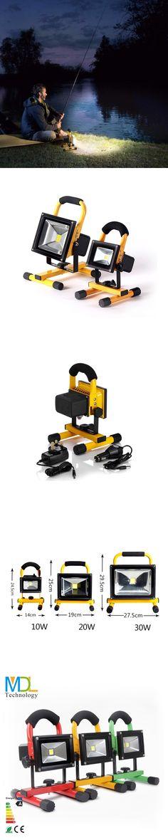 IP65 COB LED flood light portable spotlight 10W 20W 30W 50W Flood Lamp Rechargeable LED Work Lamps Outdoor Emergency light