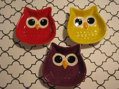 Little Owl Ceramic Trinket Dish