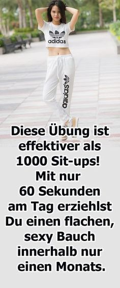 This exercise is more effective than 1000 sit-ups! - Diese Übung ist effektiver als 1000 Sit-ups! – Hogmag This exercise is more effective than 1000 sit-ups! Fitness Workouts, Tips Fitness, Yoga Fitness, Fitness Video, Health App, Health And Wellness, Health Fitness, Sit Ups, Workout Bauch