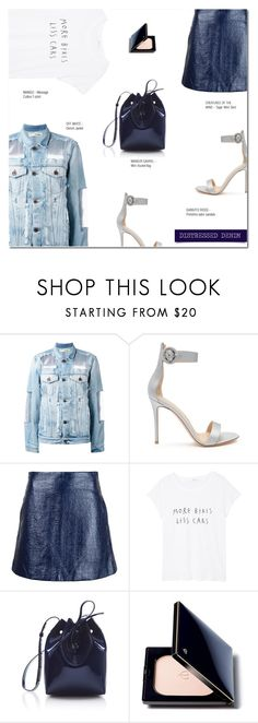 """""""TEAR IT UP: DISTRESSED DENIM"""" by larissa-takahassi ❤ liked on Polyvore featuring Off-White, Gianvito Rossi, Creatures of the Wind, MANGO, Mansur Gavriel, Clé de Peau Beauté, mango, distresseddenim, GianvitoRossi and offwhite"""