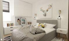 + ciekawe lampki nocne + fajny obraz nad łóżkiem + zabudowa + jasno i przestronnie - tapicerowane łóżko