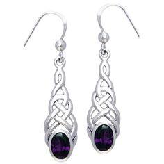 4dda71171 Jewelry Trends Sterling Silver with Amethyst Elegant Celtic Knotwork Dangle  Earrings #jewelrytrends Earring Trends,