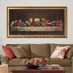 Last Supper wall art Painting Jesus Christ On Canvas catholic painting Wall Art Pictures for Home De Framed Wall Art, Canvas Wall Art, Jesus Christ Painting, Last Supper, Catholic Art, Wall Art Pictures, Texture Painting, Oil Painting On Canvas, Picture Wall