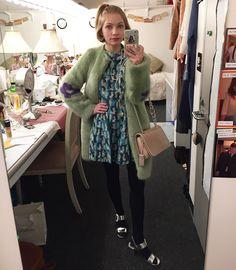 The sweetest in her Shrimps Coat 🌸 Shrimps Coat, Tavi Gevinson, Dedicated Follower Of Fashion, Polly Pocket, My Wardrobe, I Dress, Style Me, Fashion Beauty, Dresser