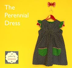 sewpony: The Perennial Dress - A free pattern and tutorial.  I LOVE this one.  Might have to splurge on some cute trim like what she uses.